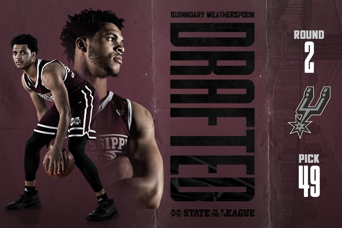 Quinndary Weatherspoon Selected No. 49 Overall by Spurs