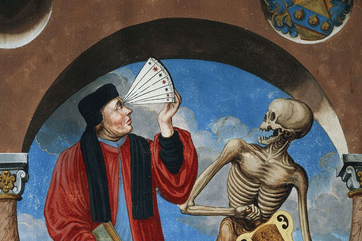 Death with Astrologer, Canon lawyer and Astrologer