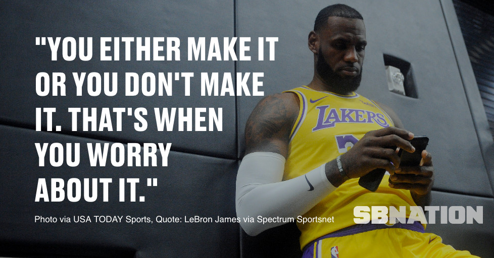 Lebron James Isn T Worried About The Possibility The Lakers Could Miss The Playoffs Silver Screen And Roll