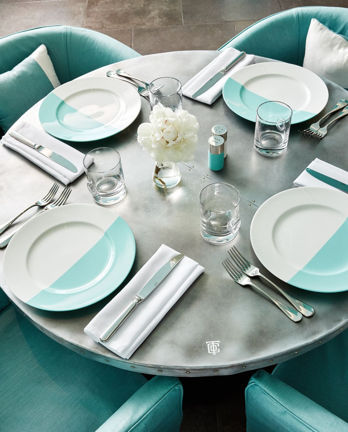 A table setting at the Tiffany & Co. Fifth Avenue cafe