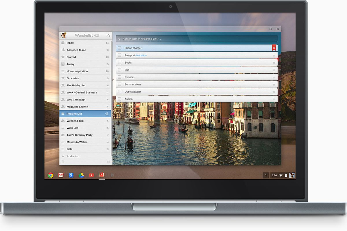 Wunderlist releases Chrome packaged app with offline support