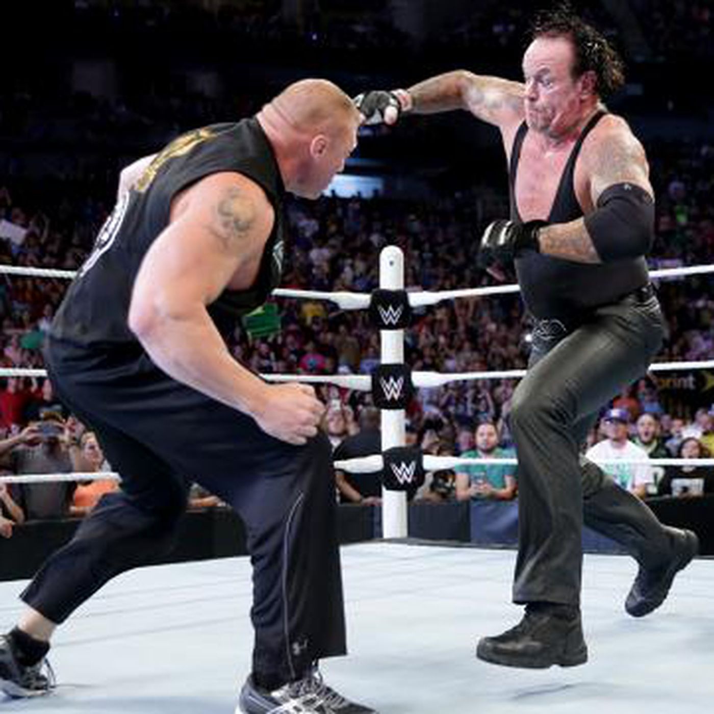 UNSEEN FOOTAGE of the Undertaker-Brock Lesnar brawl on Raw (Video