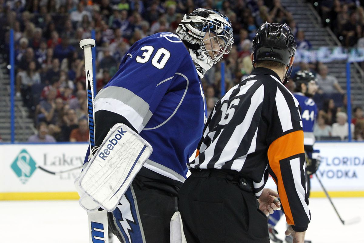 Lightning goalie Ben Bishop stopped 31 of 33 shots he faced in the Lightning's 4-2 win over Detroit Saturday night.