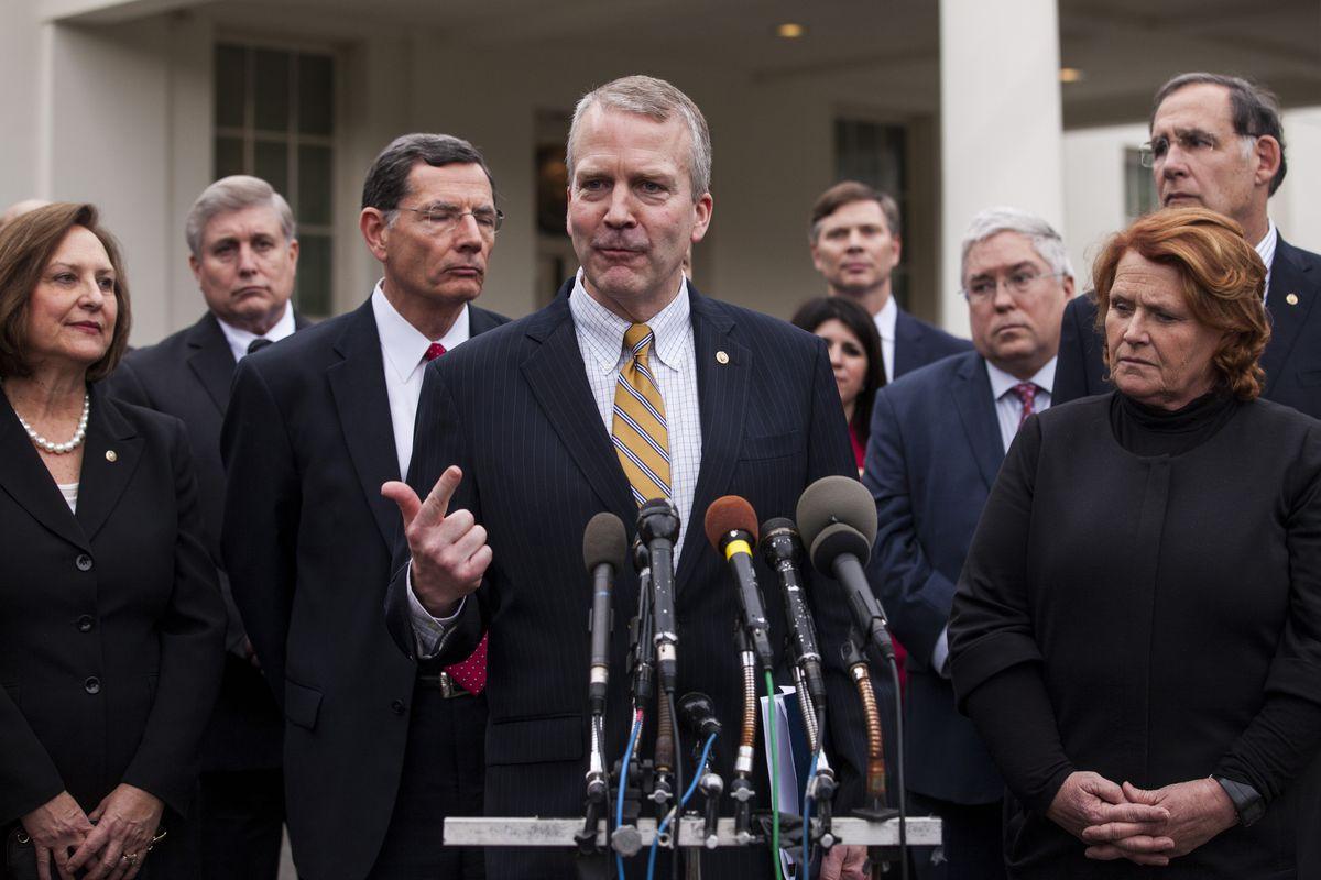 US Senators Speak To Press After Trump Signs Executive Orders