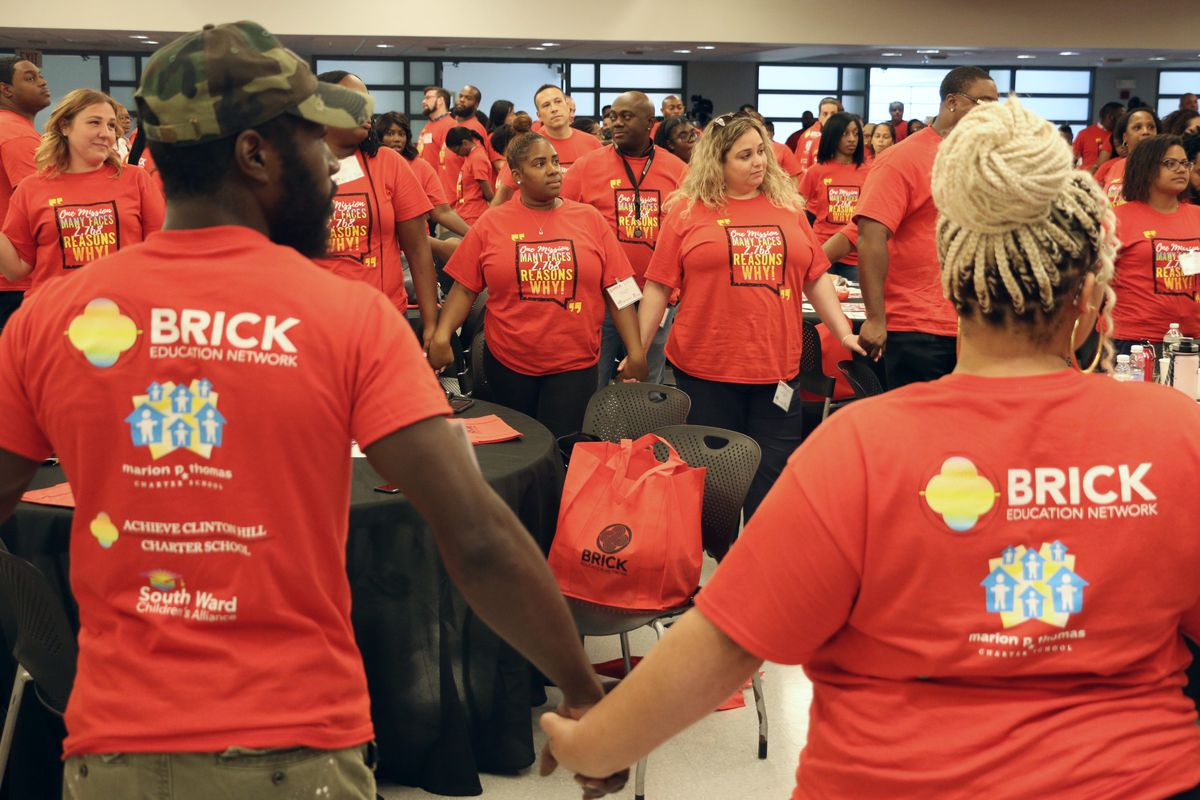 Marion P. Thomas Charter School has brought on a new management group, the BRICK Education Network, to help transform the school. Staffers from the schools that BRICK now oversees gathered for a kickoff event this week.