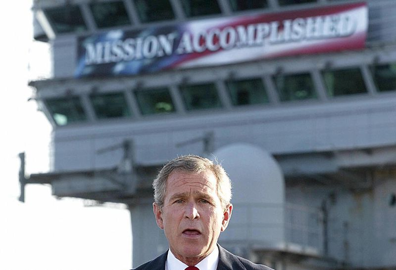 bush_mission_accomplished_epic_fail.0 Putting a dollar value on one of oil's biggest subsidies: military protection