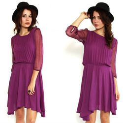 """Motel Claudia Dress, $89 at <a href=""""http://www.mltd.com/motel-claudia-dress-c-491-p-3-pr-26867.html"""">Pretty Pennies<a>: We love this one for it's sheer sleeves and its off-kilter hem line. Hat optional."""