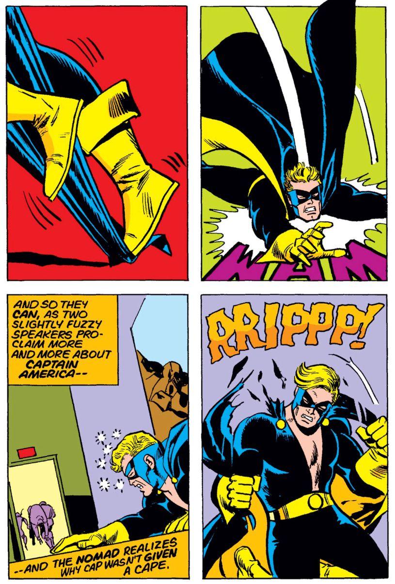 Steve Rogers as Nomad in Captain America #180, Marvel Comics (1974).