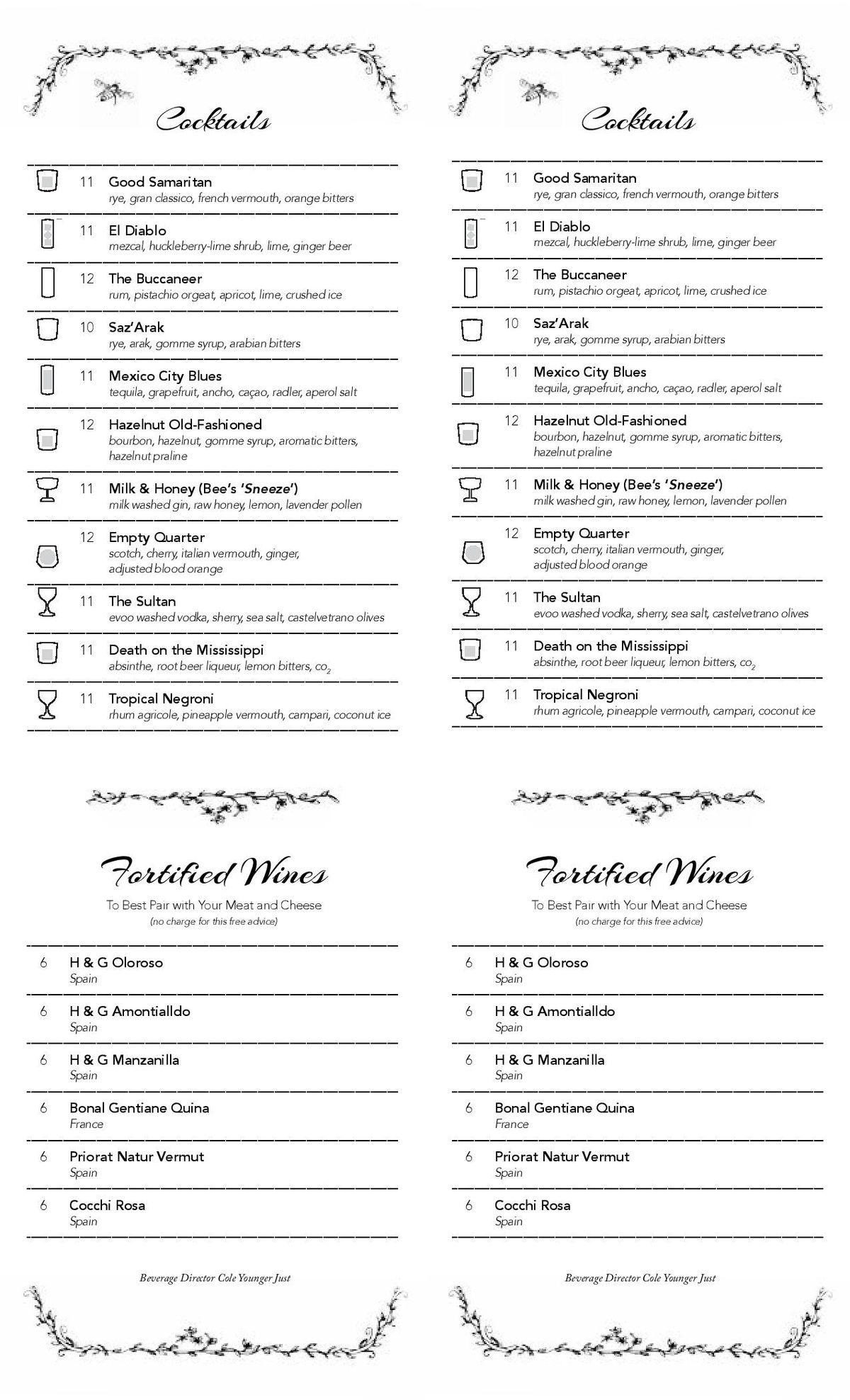 The Cockentrice new menu 4
