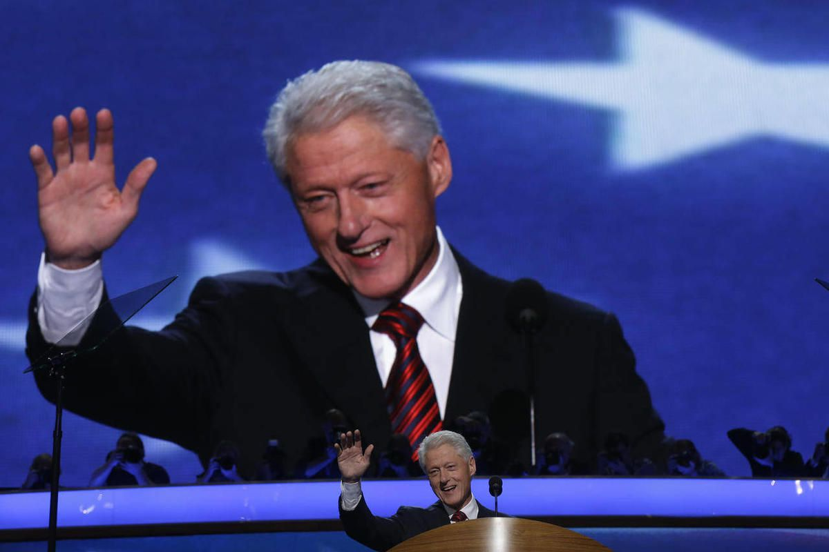 Former President Bill Clinton addresses the Democratic National Convention in Charlotte, N.C., on Wednesday, Sept. 5, 2012.