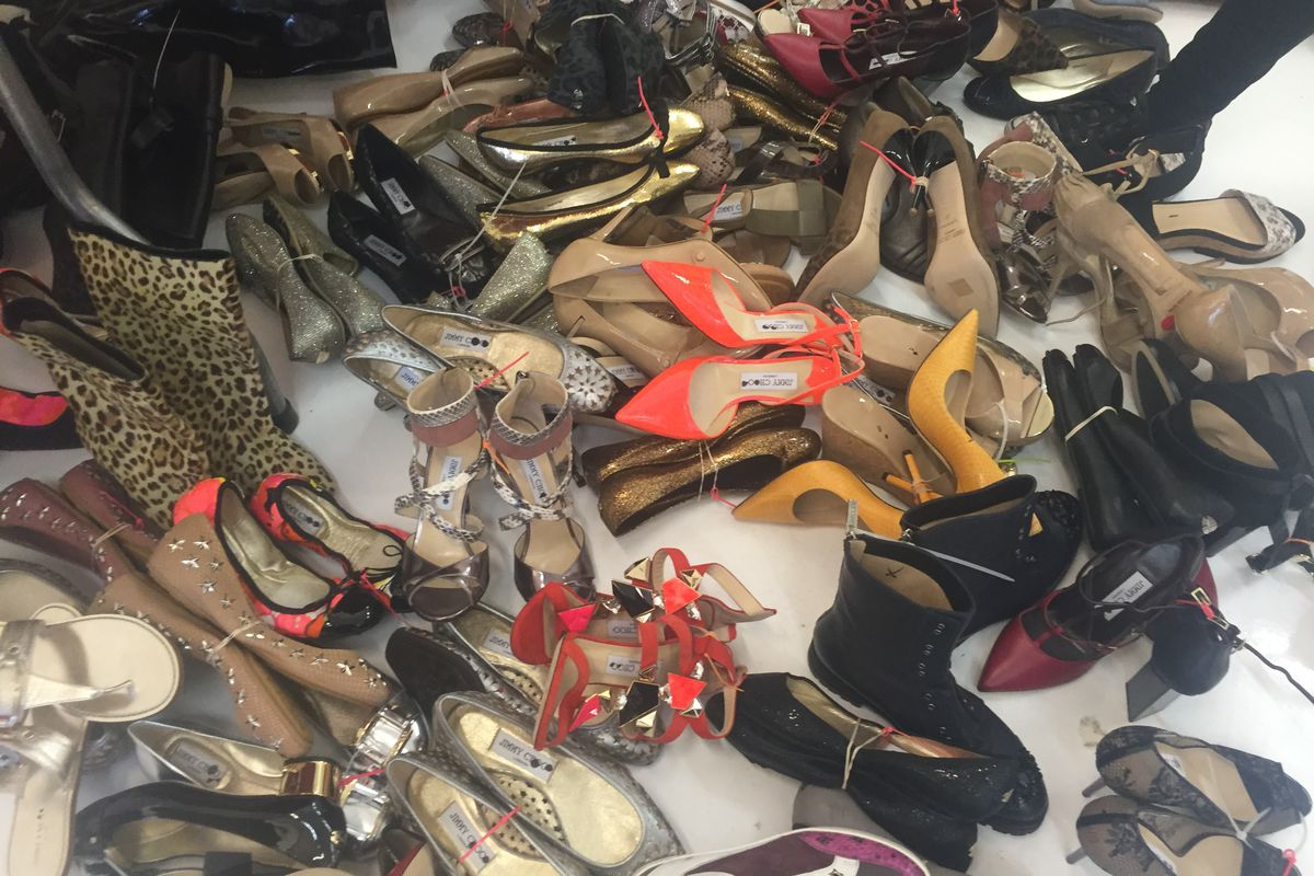 A pile of Choos - er, shoes.