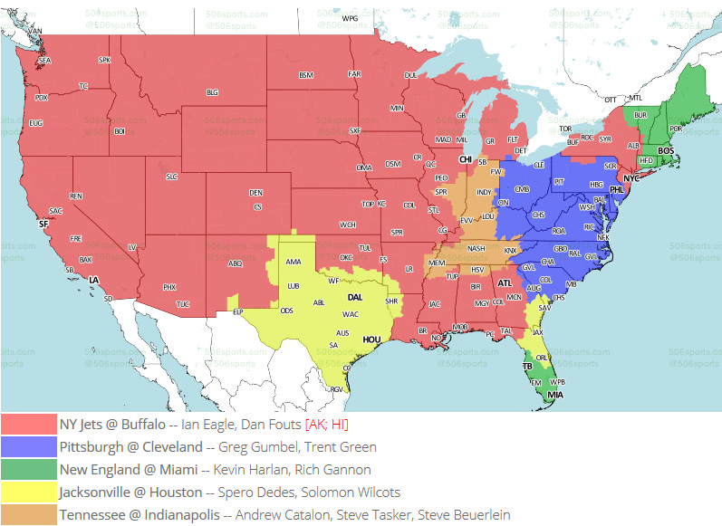 Week 17 TV Maps