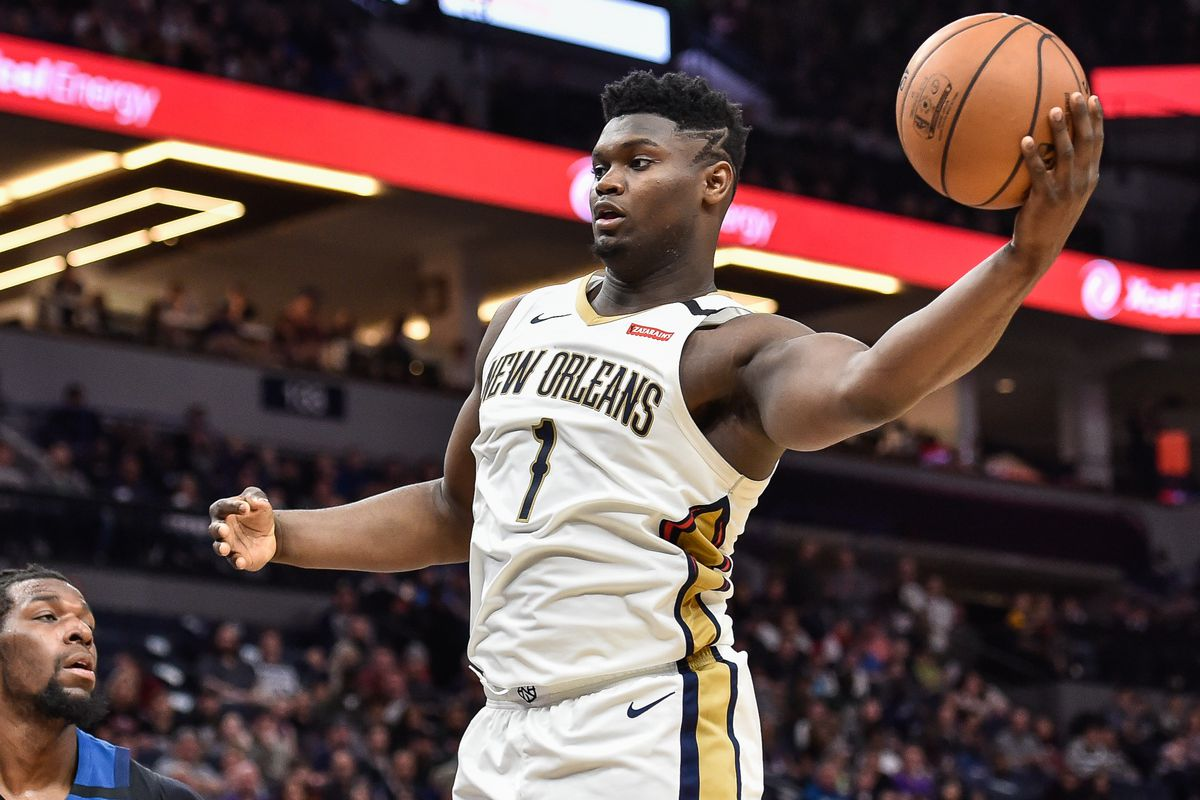 New Orleans Pelicans forward Zion Williamson in action against the Minnesota Timberwolves at Target Center.