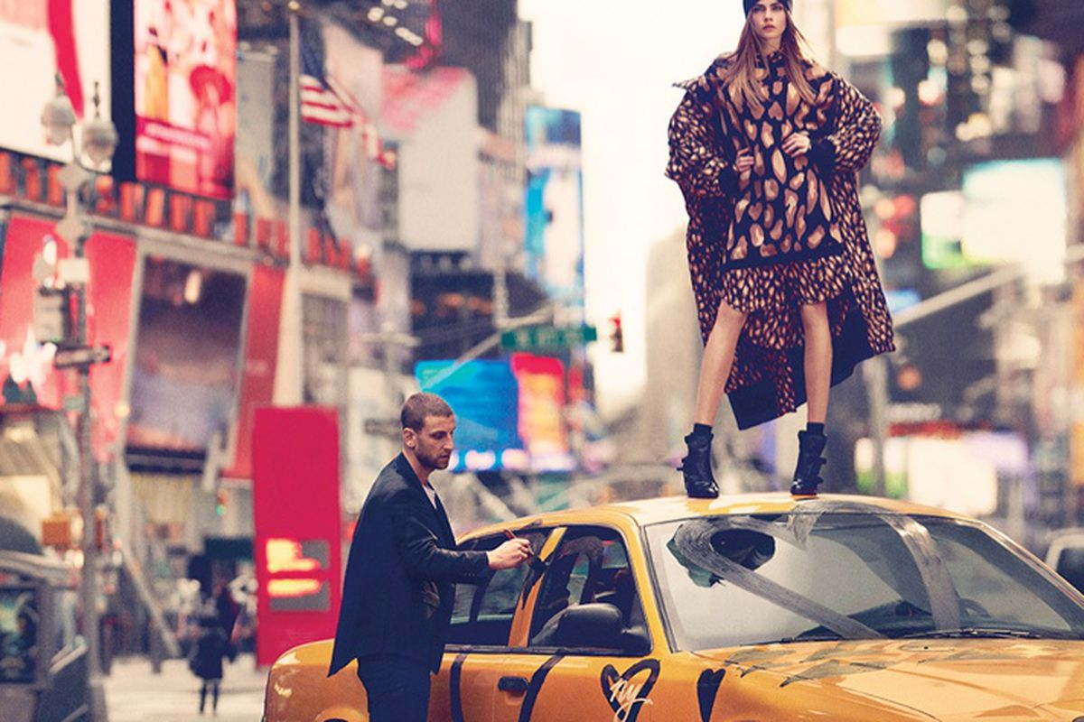 A shot from DKNY's fall 2013 campaign