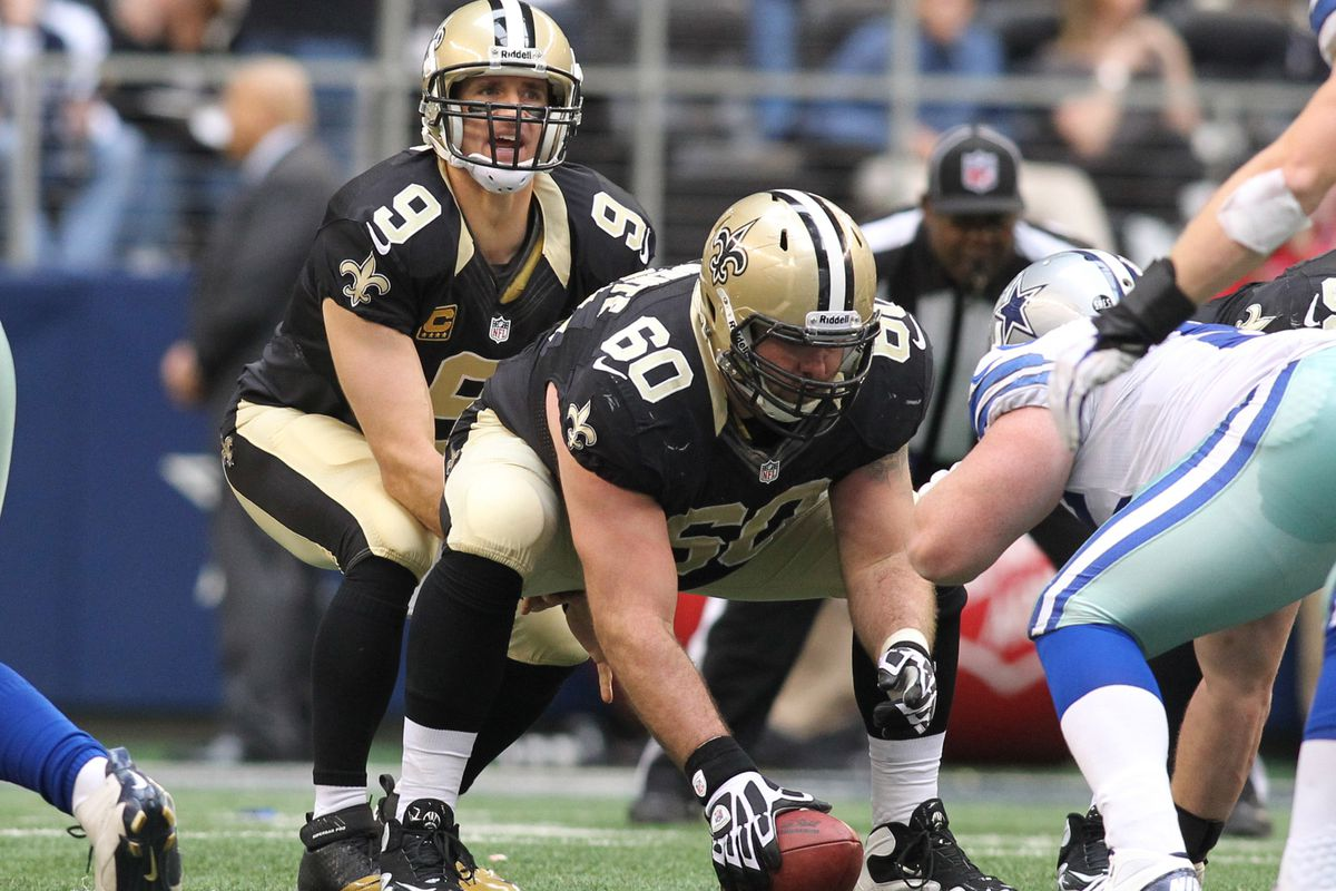 Could New Orleans Saints' center Brian De la Puente be a target for the Giants in free agency?