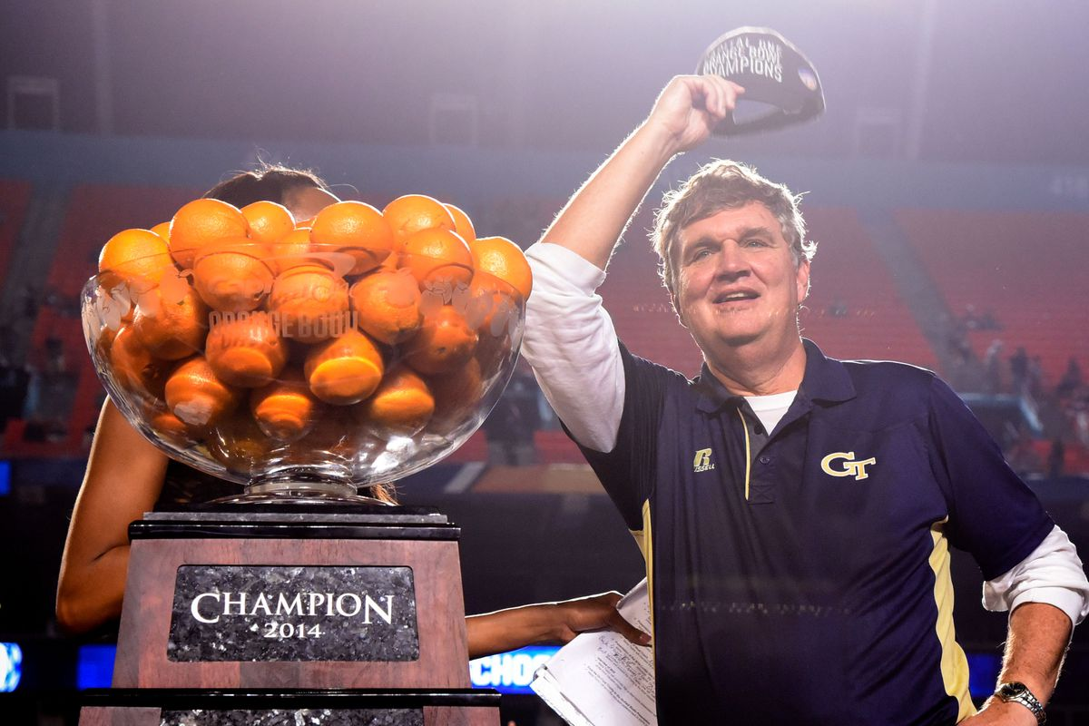 Probably the closest thing we'll ever see to a Paul Johnson smile.