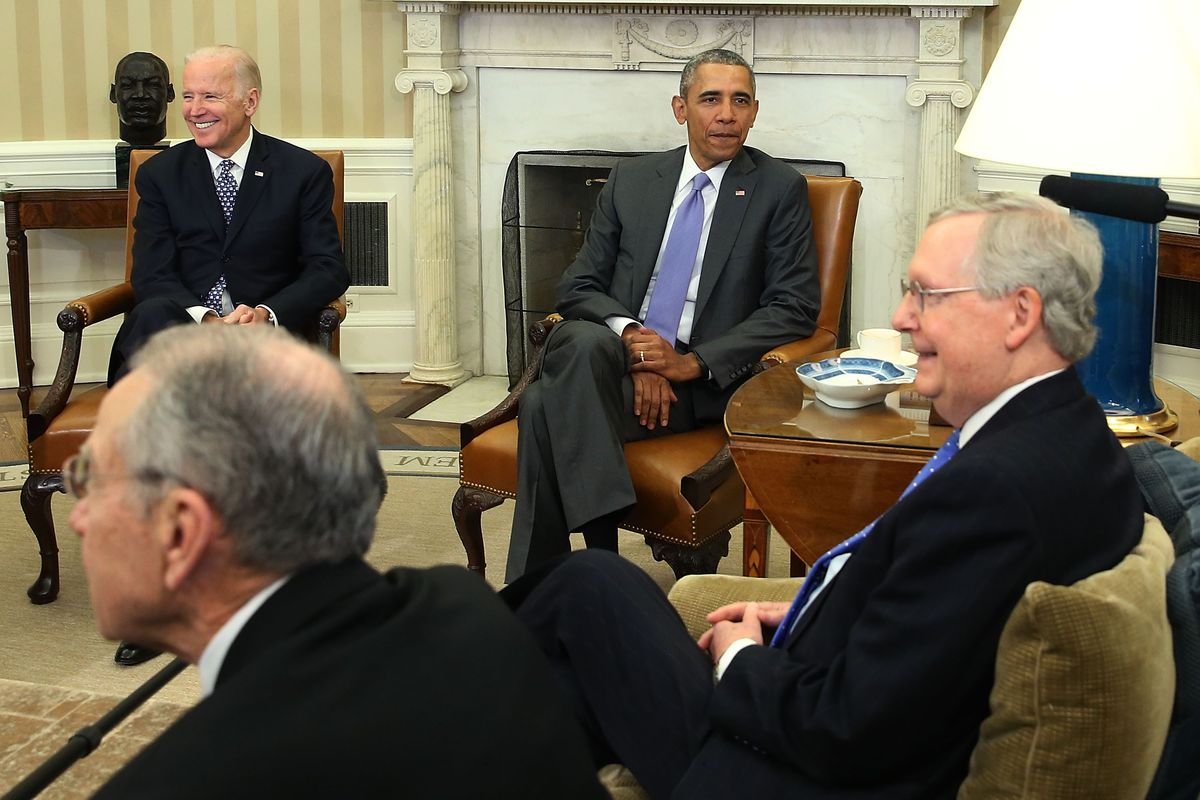 President Obama and Vice President Biden meet with Sens. McConnell and Grassley.