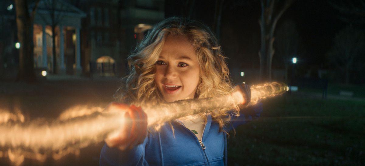 Brec Bassinger as Courtney Whitmore/Stargirl in Stargirl.