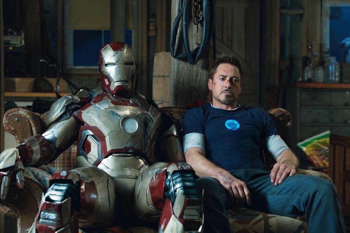 """Tony Stark in a scene from """"Iron Man 3."""""""
