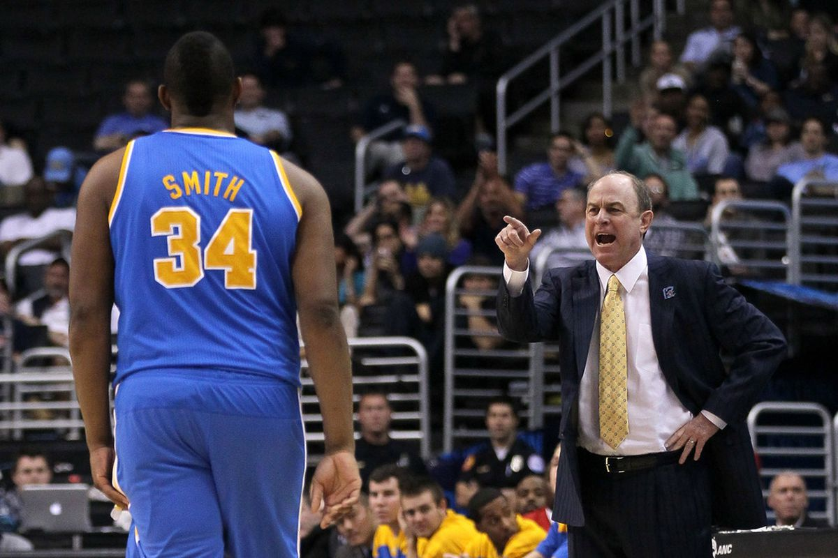 Ben Howland and Josh Smith should have more time together this summer than ever before.  (Photo by Stephen Dunn/Getty Images)