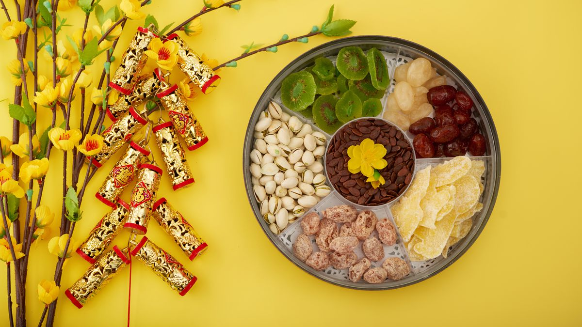 Chinese Togetherness Tray and Vietnamese Mut Tet Tray