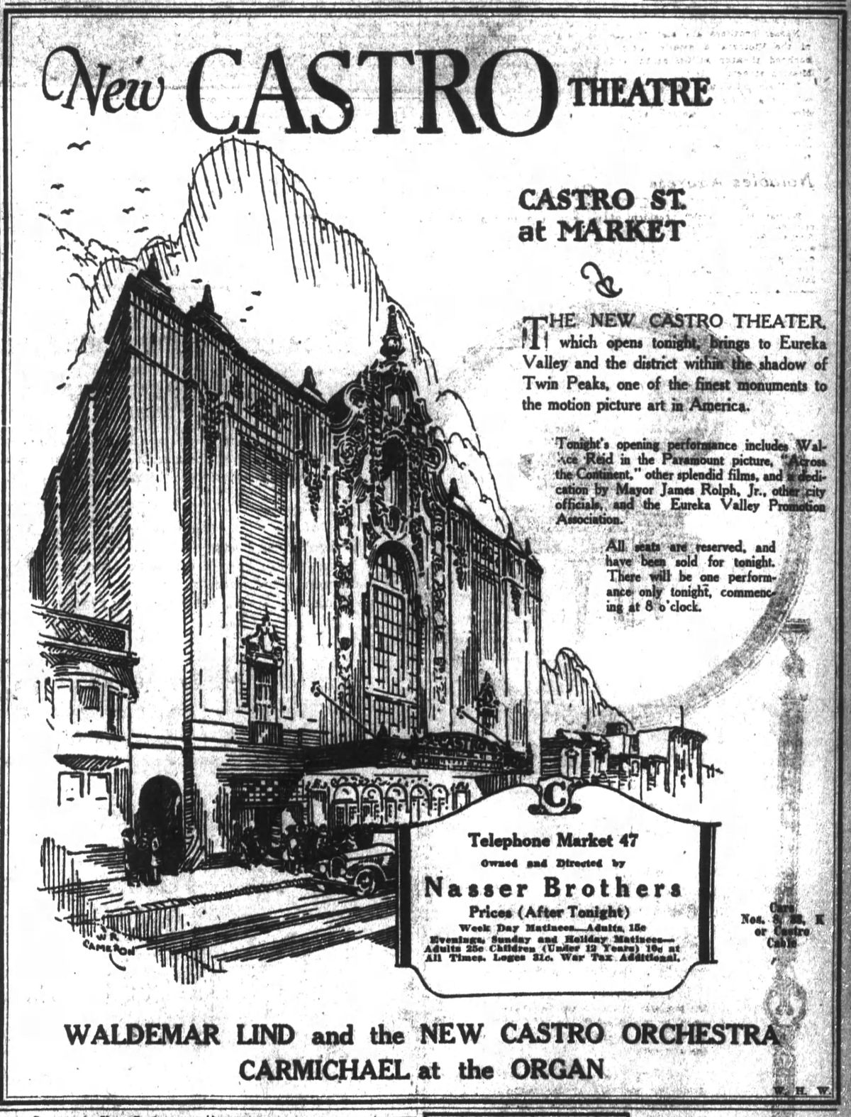 June 22, 1922 ad in the San Francisco Chronicle.