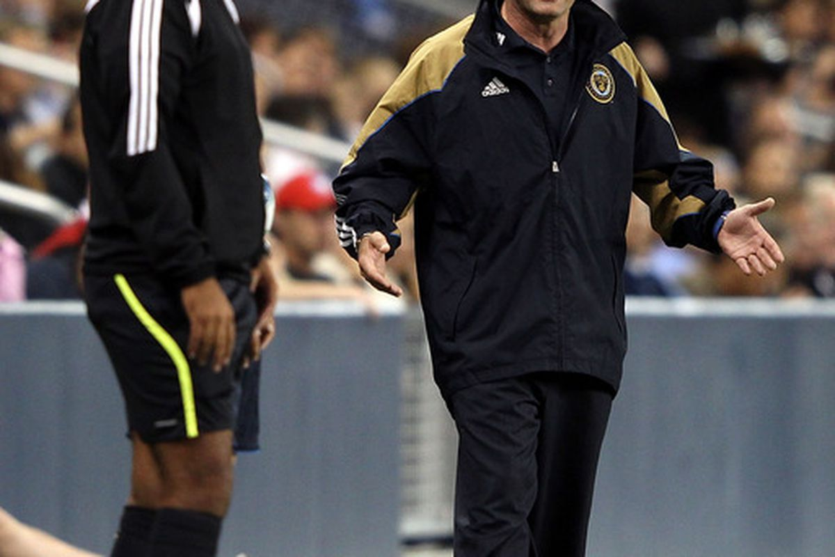 The 2012 MLS All Star Game Coach is Peter Nowak. He and the League will face Chelsea FC. (Photo by Jamie Squire/Getty Images)