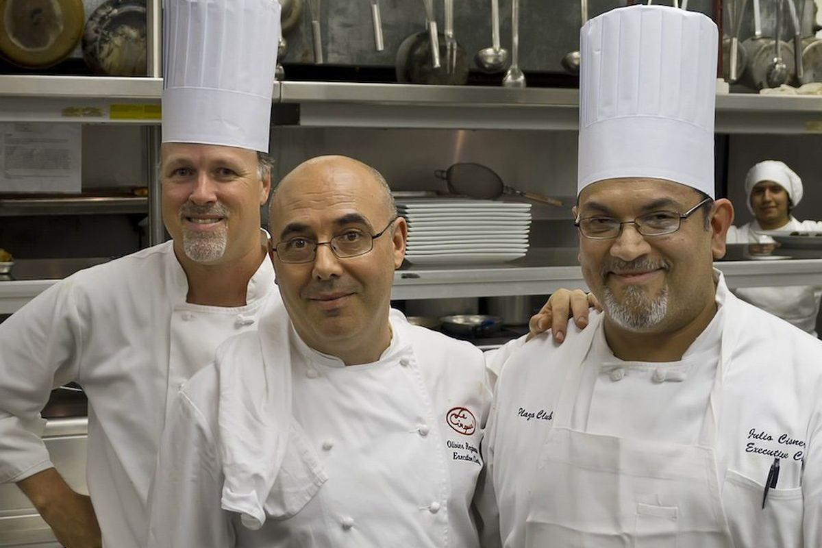 Chef Olivier Reginensi of Le Cirque (Center) pictured with staff.