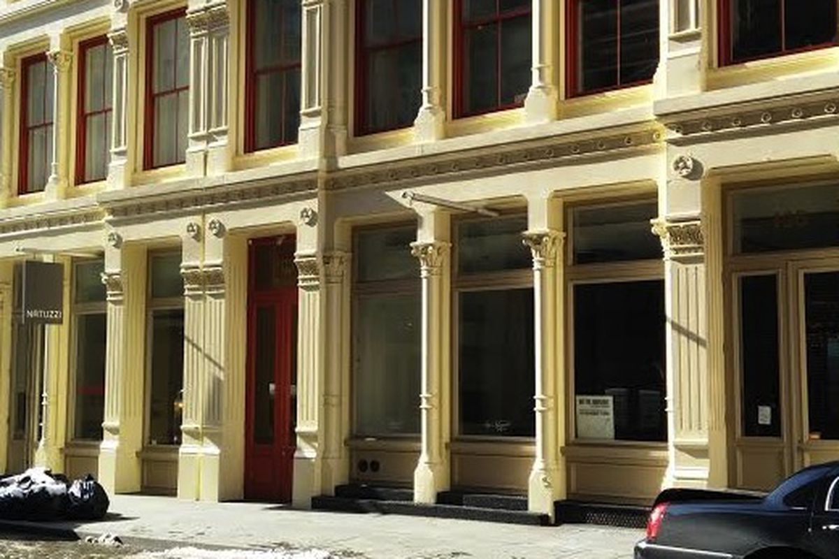 The rumored location at 103 Greene Street, which currently doesn't have a tenant but does have construction workers inside