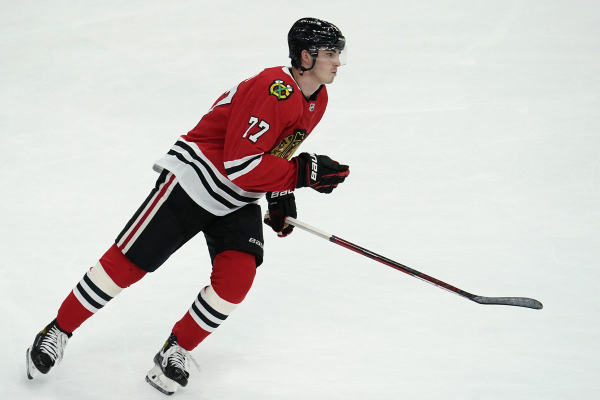 Kirby Dach returned to the Blackhawks' lineup Saturday and will be on the team for the final 22 games this season.