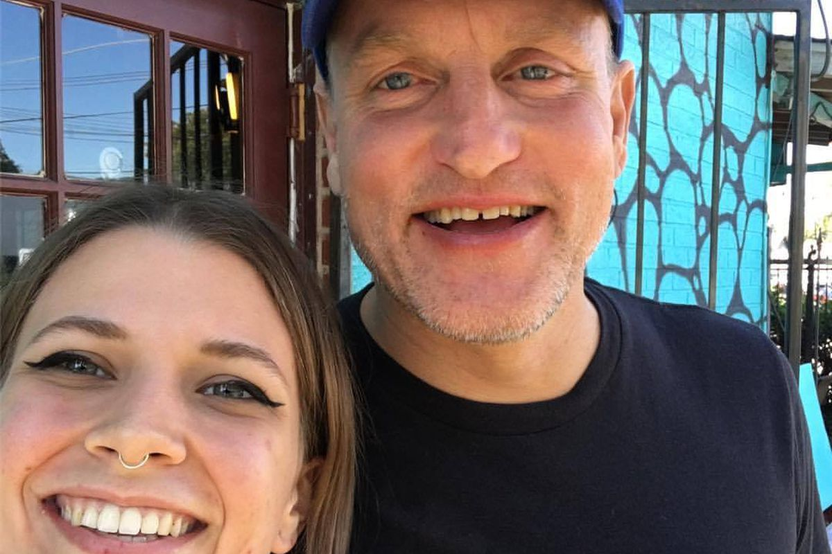 Woody Harrelson with a Counter Culture staffer