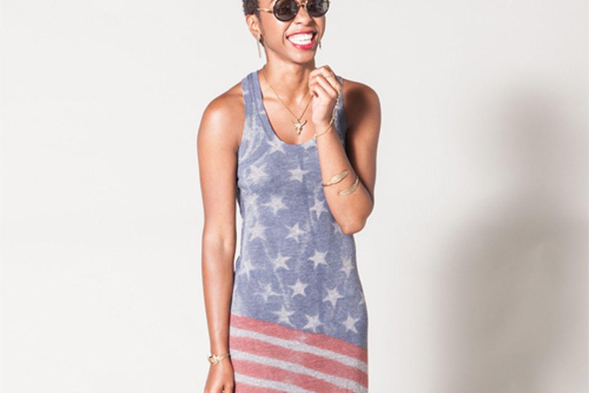 "Flag Print Racerback Maxi at Flock, <a href=""http://www.flockboston.com/flag-print-racer-back-maxi-dress.html"">$98</a>"