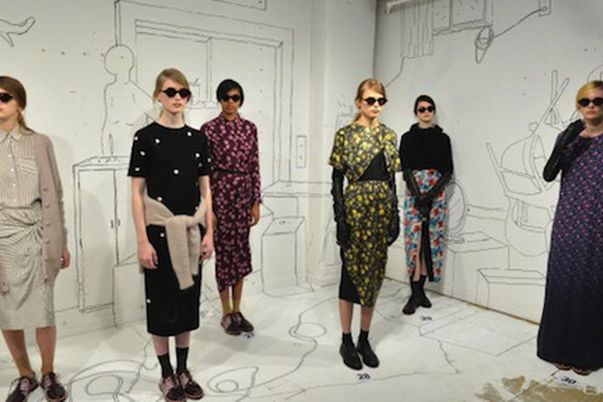 The Band of Outsiders Fall 2014 presentation; Photo via Getty Images