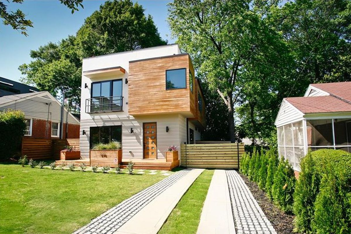 A new modern home for sale in Atlanta's Old Fourth Ward neighborhood.