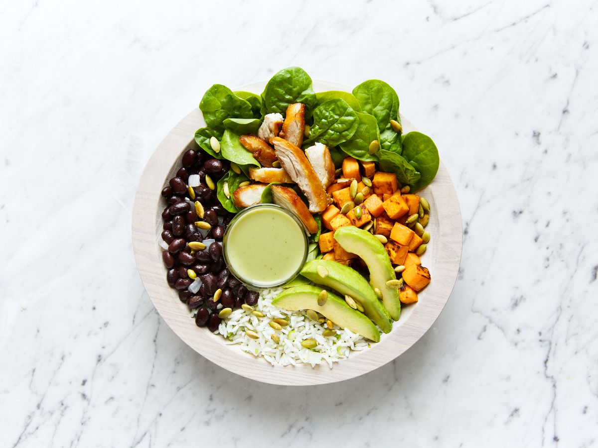 A grain bowl from Honest Mary's