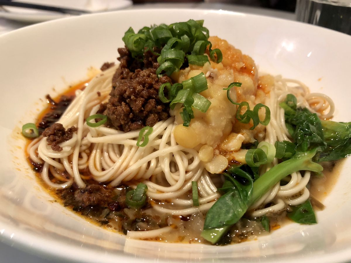 Chickpea noodle with broth at Hao Noodle and Tea
