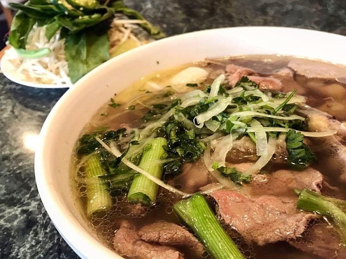 A bowl of pho.