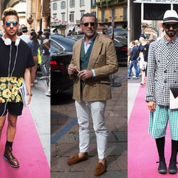 """""""Men are very active in the Milan fashion scene, more than in NY or in Paris. There are two main styles for the Milanese boys: the 'gentleman' type that wears a suit and loafers, always very elegant and classic, or the 'fashion student' type that is usual"""