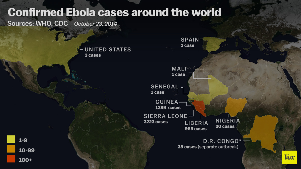 worldwide confirmed cases of ebola