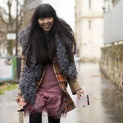 Blogger Susie Bubble in Paris.