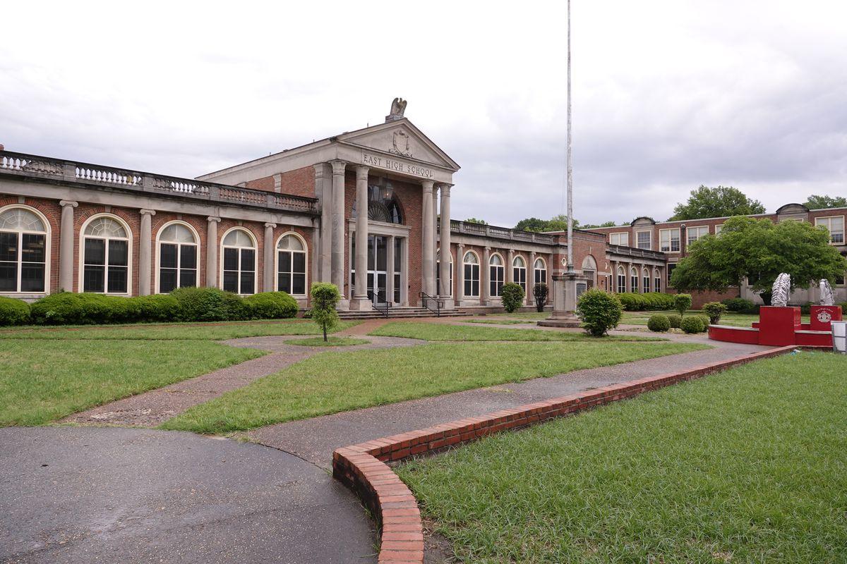 East High School on Poplar Avenue in Memphis