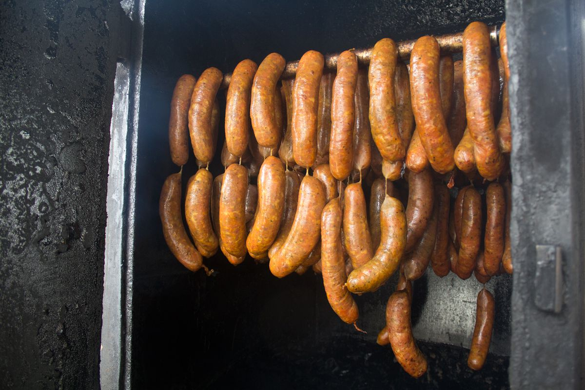 La Barbecue sausages at Quickie Pickie