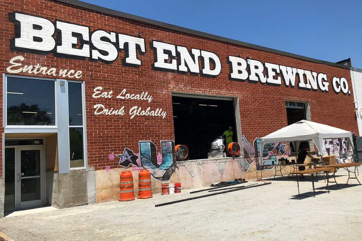 The entrance to the new brewpub at Lee + White in West End