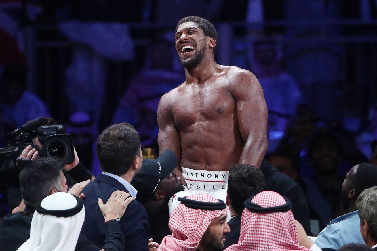 British boxer Anthony Joshua wins back his world heavyweight titles in Saudi Arabia