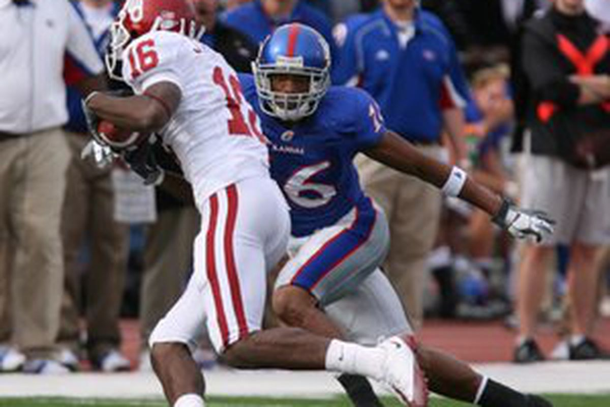 Oklahoma sophomore wide receiver Jaz Reynolds (16)