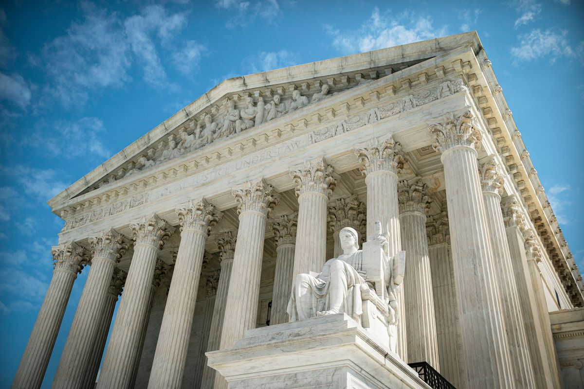 A view of the US Supreme Court on September 28, 2020.