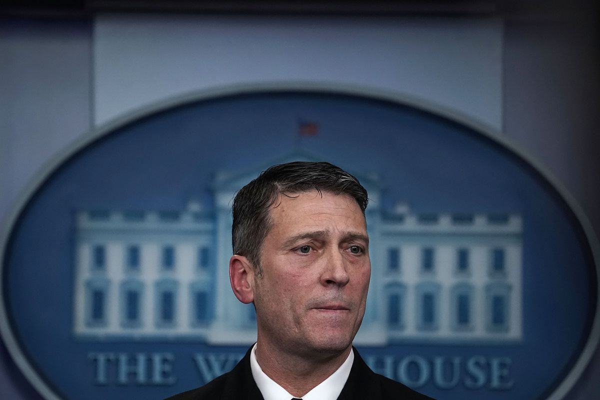 Ronny Jackson, Trump's nominee for the Department of Veterans Affairs.