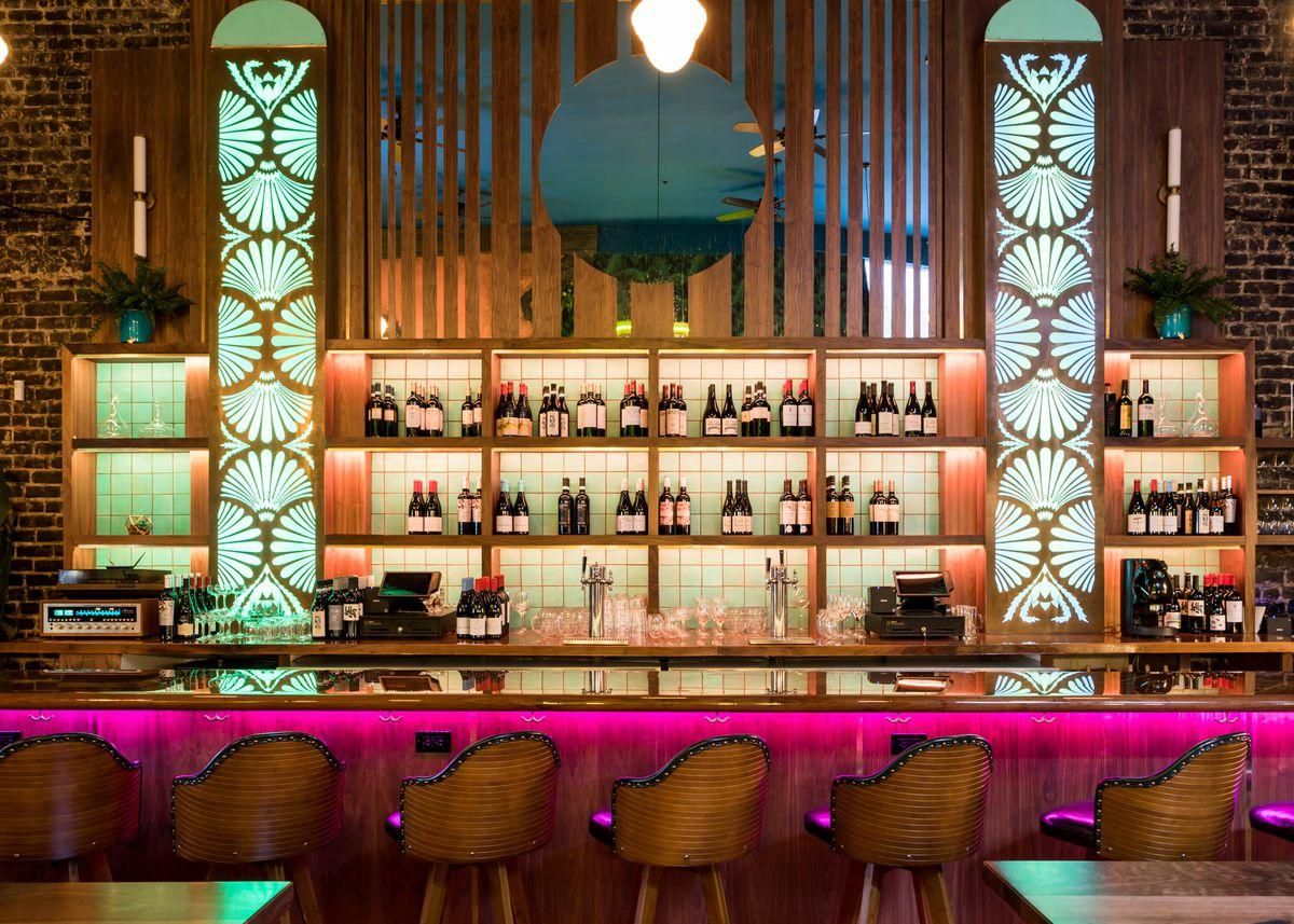 The bar at Pawn Shop
