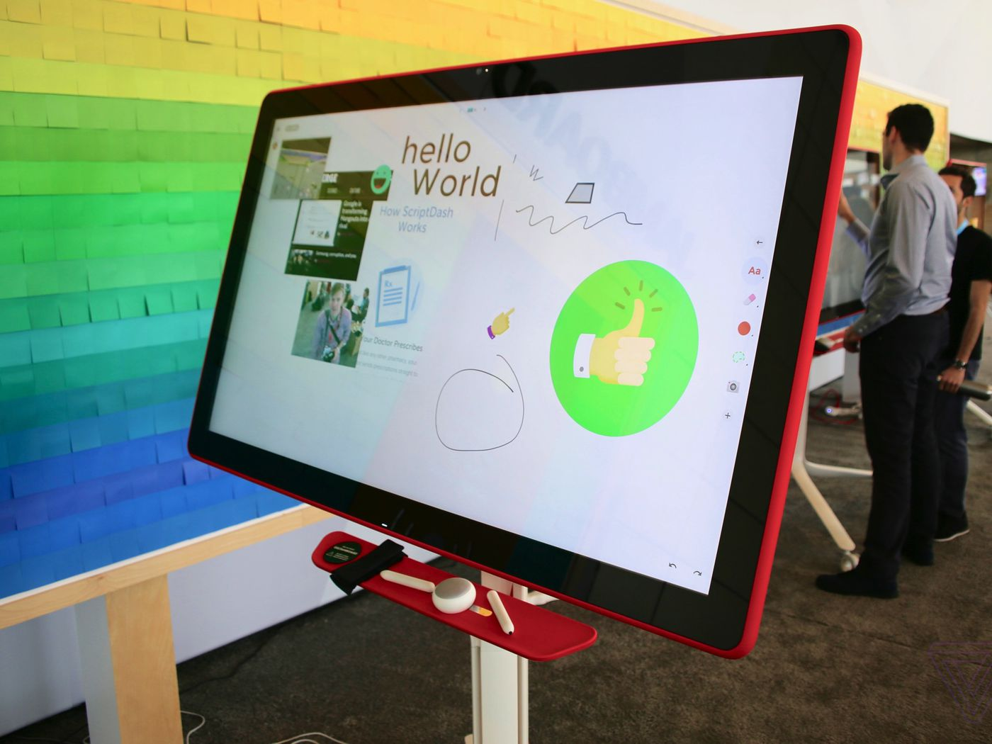 Google S Jamboard Is The Cutest Collaborative Whiteboard You Ll Ever Touch The Verge
