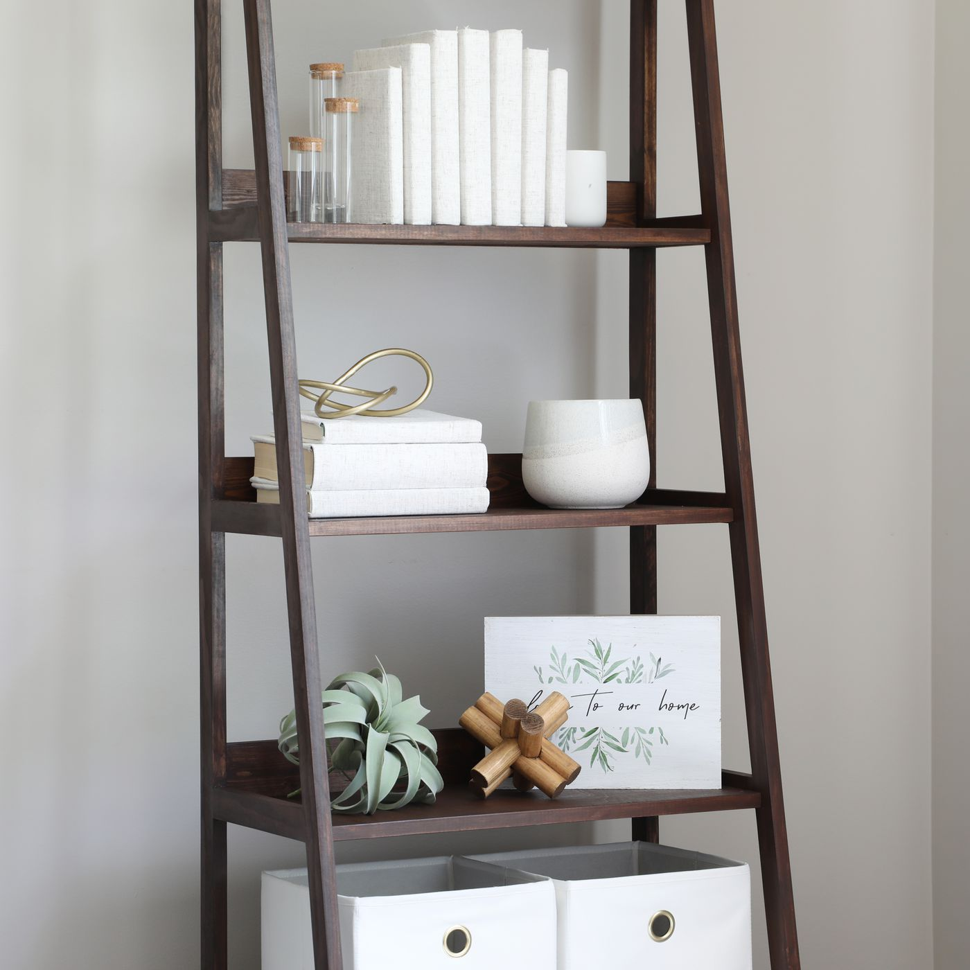 How To Build A Leaning Ladder Shelf Video This Old House